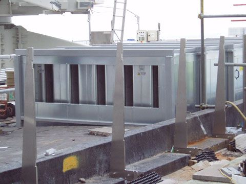 A Photo of an External Acoustic Enclosure fitted to a Smoke Extract System