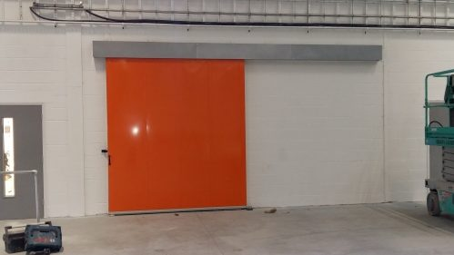 A photo of a sliding acoustic door